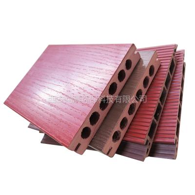 西安木塑地板 空心塑木材料装饰地板防水防潮防腐