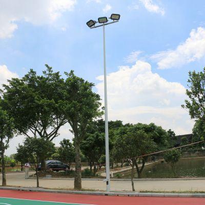 中山市篮球场灯杆批发/镀锌管球场灯柱包安装