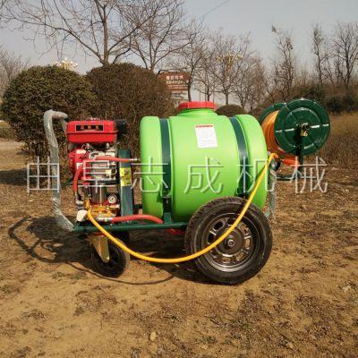 农用果树打药车160L推车式喷雾器园林手推式小型洒水车160L
