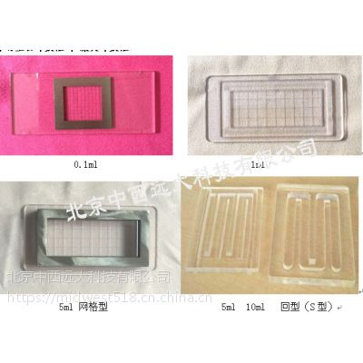 中西浮游生物计数框有机玻璃 型号:KH05-1ml 库号:M16588