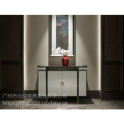 后现代客厅不锈钢玄关柜装饰柜别墅定制家具