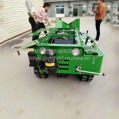 32马力履带式开沟施肥机 多功能果园开沟机 启航履带式多功能旋耕回填除草机