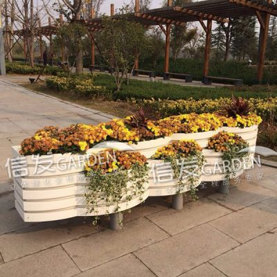 隔离带隔离栏 护栏组合花箱 各种大小 pvc材质