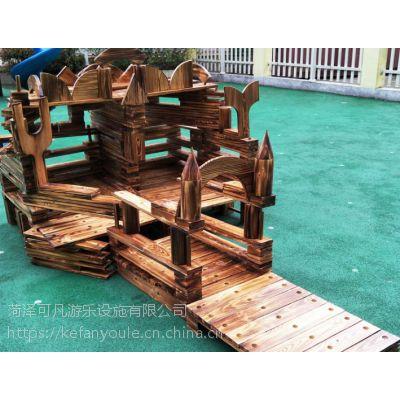 幼儿园户外大型积木幼儿园攀爬架 木制大积木玩具构建区益智积木