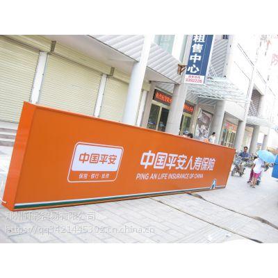 武汉3M灯箱布价格/湖北3M材料批发/银行门楣制作加工