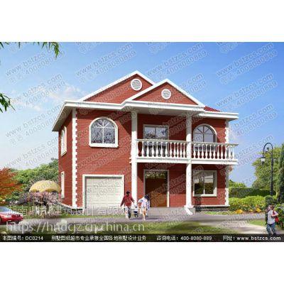 二层别墅设计_新农村二层带车库小别墅设计效果图