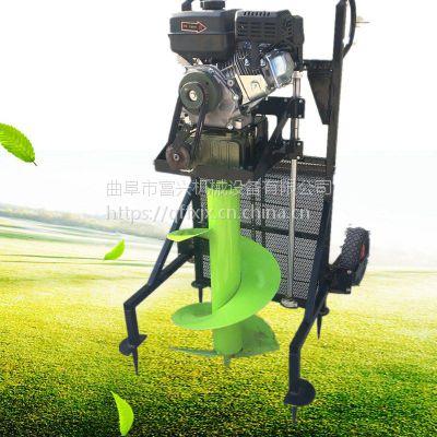 围栏立柱刨窝打孔机 汽油便携式种植挖坑机 果树施肥刨坑机视频