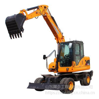 犀牛重工XN85-9Y小型轮式挖掘机