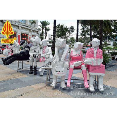 女性购物主题shopping题材商场商业街景观场景人物雕塑玻璃钢装饰美陈设计装扮道具
