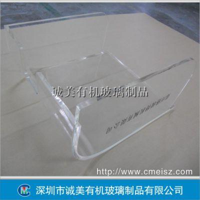 机器保护罩 仪器防飞溅亚克力罩 有机玻璃热弯弧形设备门盖