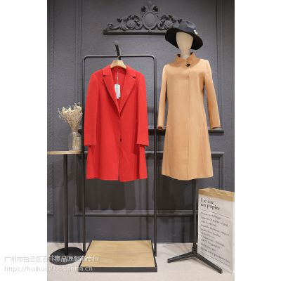 朗美睿18年冬双面羊绒大衣品牌折扣女装分份批发含澳洲羊毛
