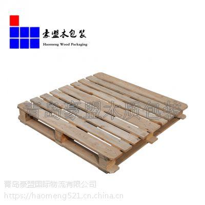 青岛欧标木托盘批发供应熏蒸木托盘出口专用四面进叉