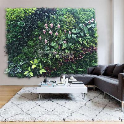 深圳绿琴厂家热销 仿真植物墙 人造假绿植墙 家居装修美化塑料植物 绢布装饰假花假叶子