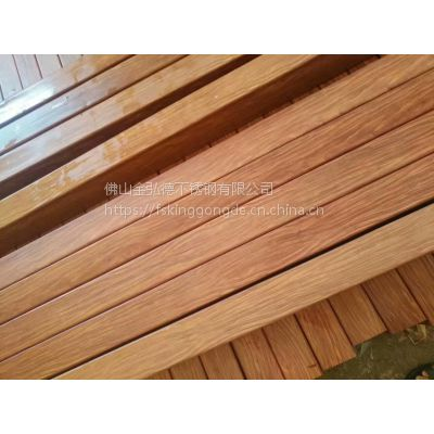 2017新品201红木纹方管、仿红木不锈钢高档装饰管材