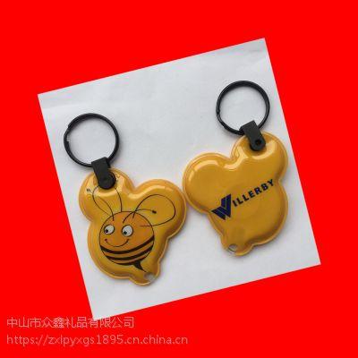 环保PVC印刷 卡通黑猫系列PVC带灯钥匙扣 小饰品钥匙挂件
