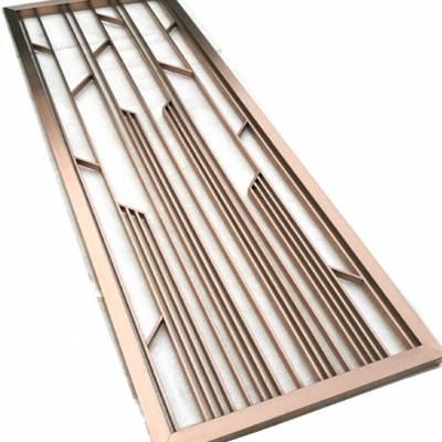你知道点焊回字形钛金花格不锈钢屏风吗?
