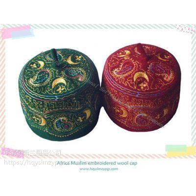 2019年新款尼日利亚Nigeria/马里Mali刺绣羊毛帽embroidered wool cap