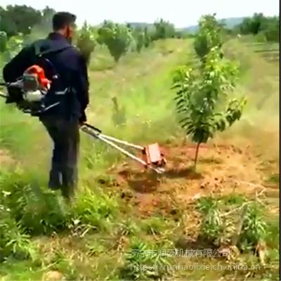 二冲程手推式锄草机 全自动果园犁地机松土机