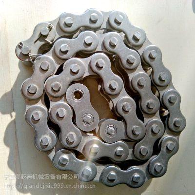 定做不锈钢双节距12A20A滚子链 弯板输送带链条单排链条链轮配件厂家