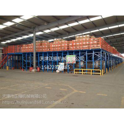 甘肃阁楼式货架 二层钢结构平台