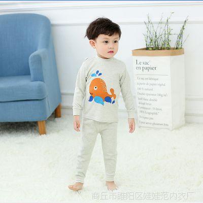新款儿童彩棉内衣套装婴儿套装宝宝纯棉秋衣秋裤厂家批发一件代发