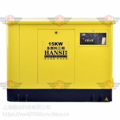 贵州15千瓦三燃料双燃料发电机组