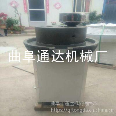 唐海县 豆制品石磨豆浆机 多功能花生米浆石磨机 肠粉香油加工设备 通达牌