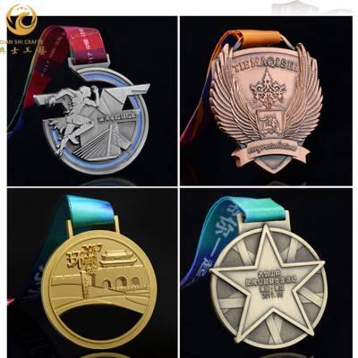 学校体育运动会奖牌定制,金属徽章制作厂家,合金挂牌开模制作