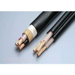 供应阳谷齐鲁牌裸铜线多芯交联塑料绝缘聚氯乙炔护套电力电缆 YJV 3*10+2