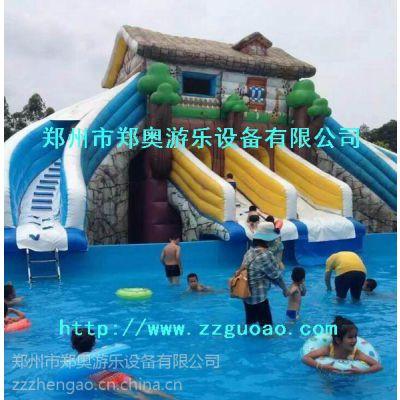 厂家直销大型水上乐园儿童充气玩具游泳池