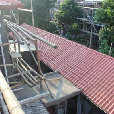 3.0mm合成树脂瓦 别墅屋顶彩瓦 度假村塑料装饰瓦