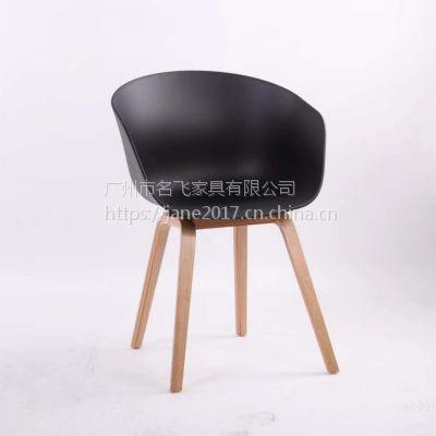 广元市快餐桌椅简约现代咖啡厅茶餐厅塑料圆椅