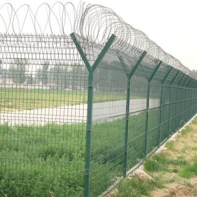 江门厂区围栏安装 广州刺丝防护网 中山铁丝网厂 牢固Y型围网