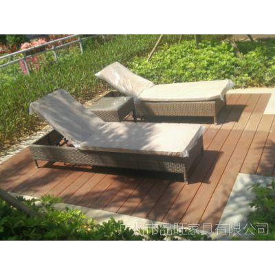 供应品旺PE仿藤沙滩躺椅TY-017