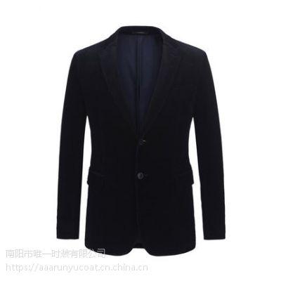 新品灯芯绒商务休闲藏青外套单西男4328 棉粘混纺 商务休闲 优雅素色