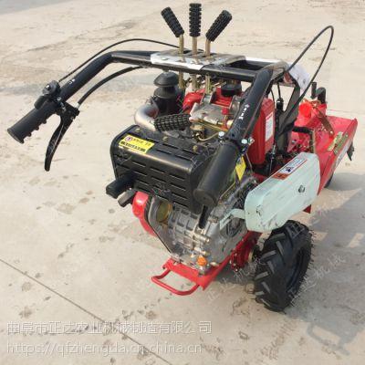 双侧培土机 小型手扶微耕机 柴油多功能微耕机