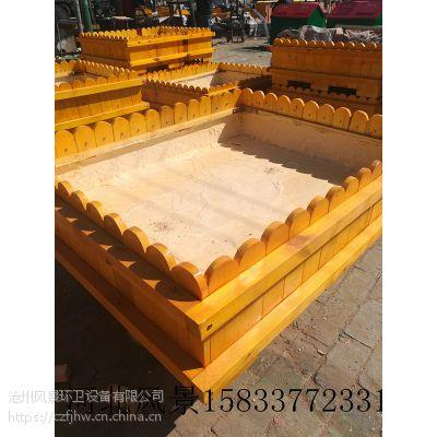 花箱 花盆 风景优质 河北 定制异形花箱 实木 防腐木 PVC发泡 1米*1米*70 黄色 红棕色