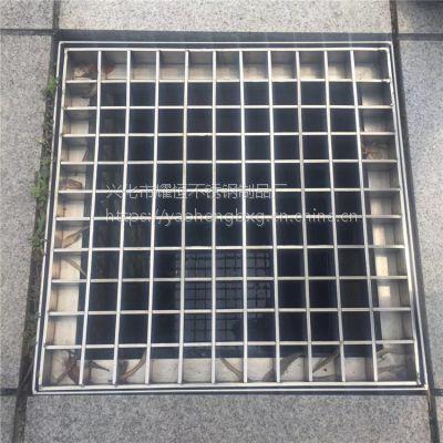 耀恒 不锈钢隐形格栅盖板 沙井盖 钢格栅网