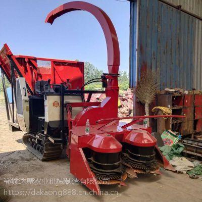 玉米秸秆履带式青储机 高粱杆粉碎青贮机