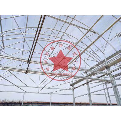 薄膜蔬菜连栋温室大棚热镀锌骨架生产厂家—青州瀚洋温室