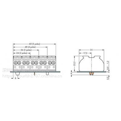 WAGO 德国原装万可照明接线端子 862-1504