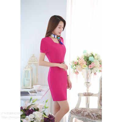 鸿裕制衣专业定制女士职业装 文员商业女装套装 工作服连衣裙