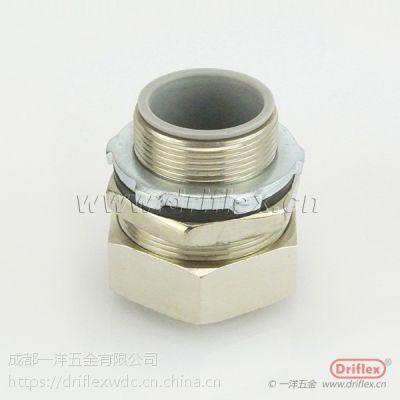 厂家供应4分黄铜接头 直接头 金属软管连接器
