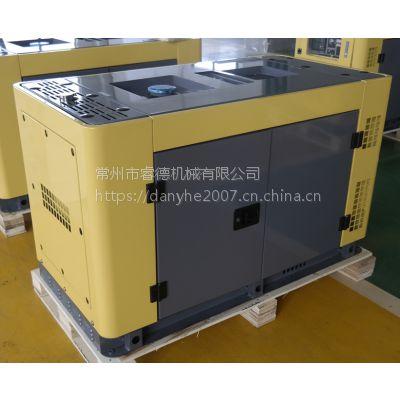 睿德R292双缸风冷柴油发电机组 12KW风冷柴油发电机组 15HP静音单相黄灰