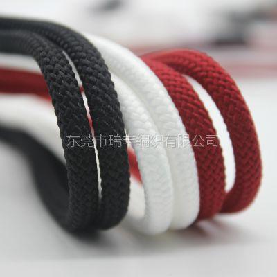 厂家直销 胶头定制涤纶编织绳 卫衣装饰绳 服装帽绳带