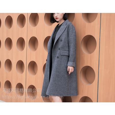 杭州秋冬服装批发厂家直销新款呢子大衣批发便宜韩版呢子外套甩卖处理