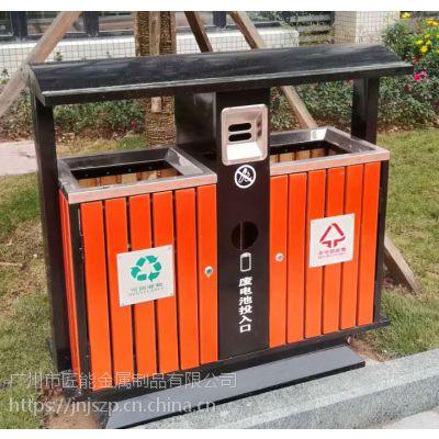 广州厂家直供匠能JNJS-005木制烤漆环保垃圾桶