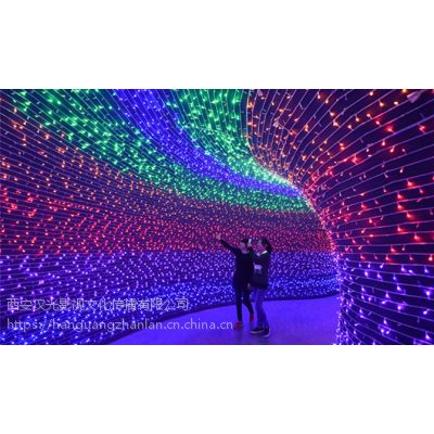 格尔木大型灯光展_唯美星空隧道造型布展_展览道具出租租赁