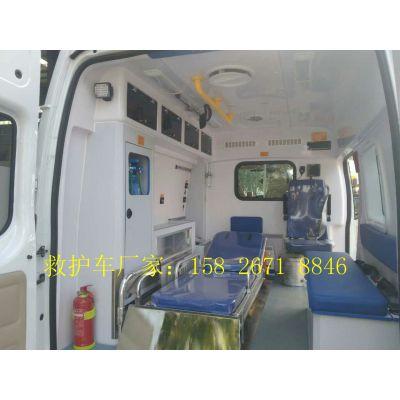 江铃运输型救护车厂家供应配置是哪些多少钱一辆
