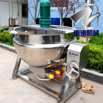 不锈钢夹层锅 重诺肉制品蒸煮锅 蒸煮设备使用方法
